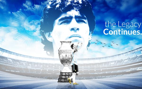 Sports Argentina national football team Soccer National team Lionel Messi Diego Maradona HD Wallpaper | Background Image