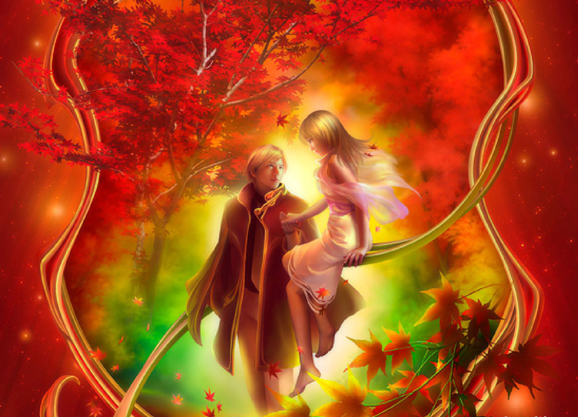 Fantasy - Love  - Fairytale Love Wallpaper