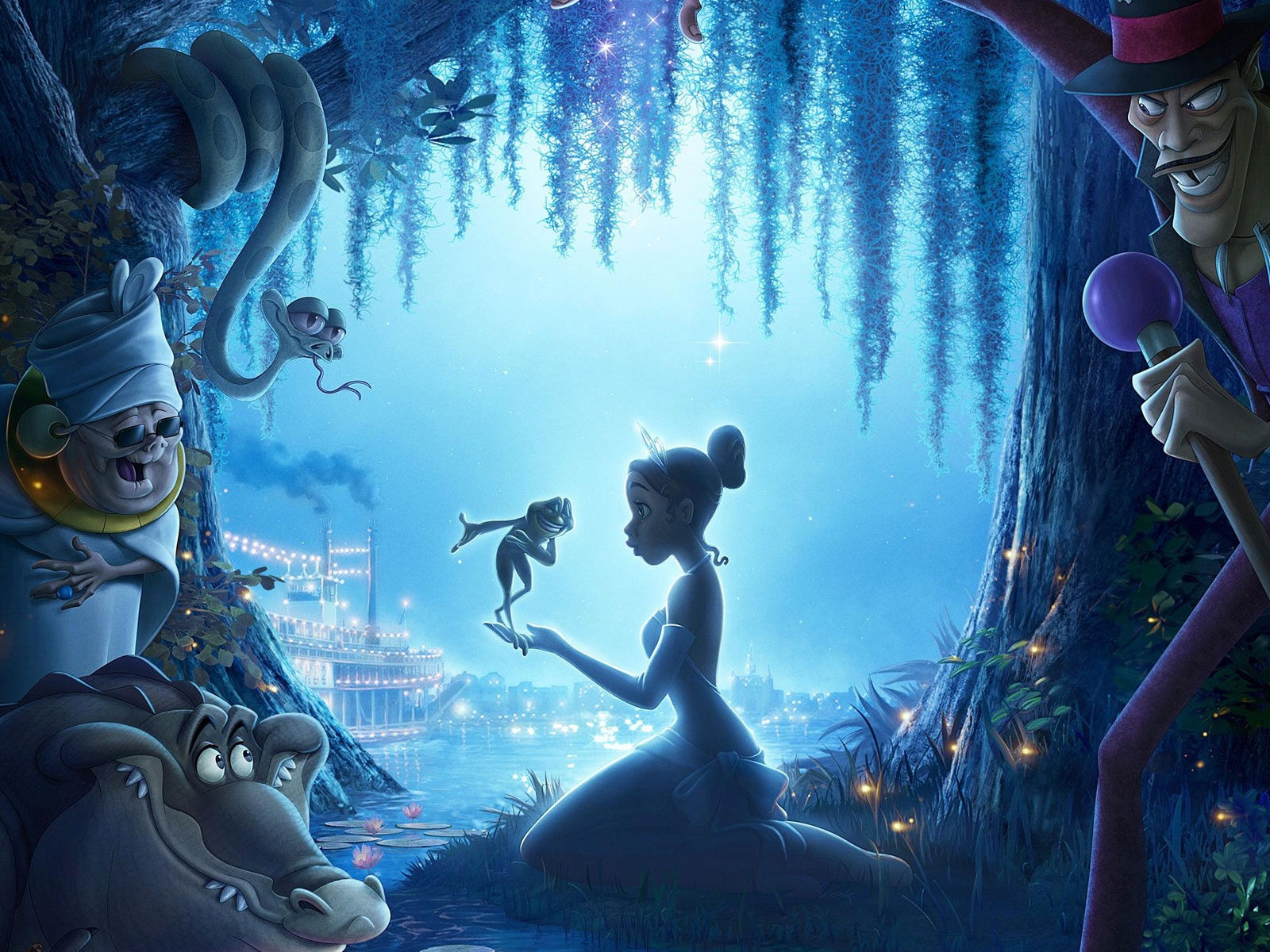 Tekenfilm - The Princess And The Frog  Wallpaper