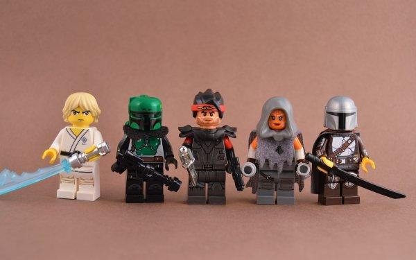 Products Lego Luke Skywalker Boba Fett Hunter Ahsoka Tano The Mandalorian Darksaber HD Wallpaper   Background Image