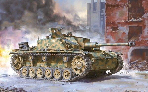 Military Sturmgeschütz III Tanks Wehrmacht Self-Propelled Artillery HD Wallpaper   Background Image