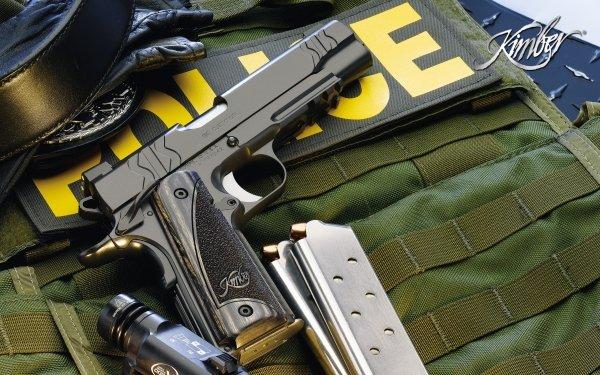 Weapons Kimber Pistol AK-47 HD Wallpaper   Background Image