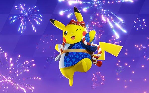 Video Game Pokémon UNITE Pokémon Pikachu Fireworks HD Wallpaper   Background Image
