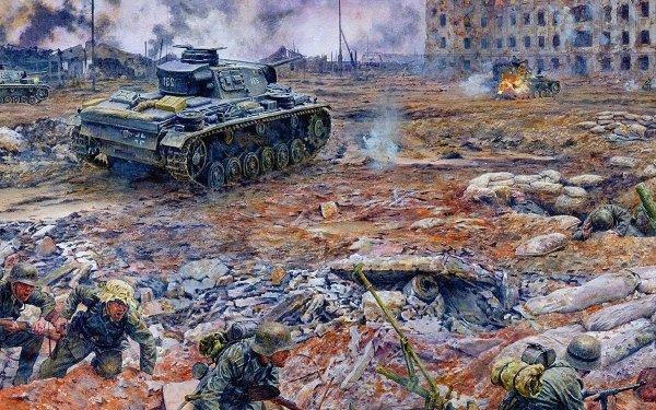 Military World War II Wars Tank Wehrmacht Stalingrad HD Wallpaper   Background Image