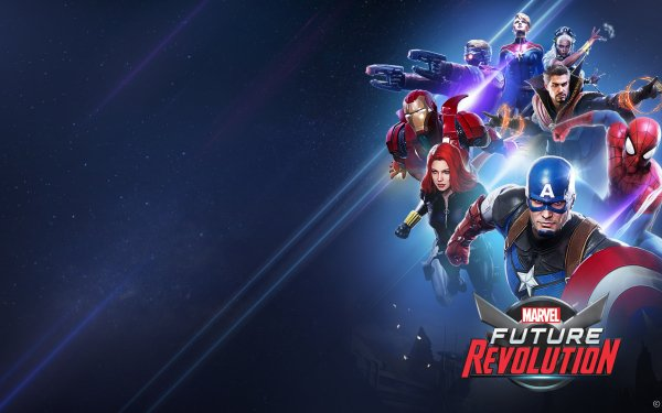 Video Game Marvel Future Revolution Captain America Spider-Man Black Widow Doctor Strange Star Lord Captain Marvel Carol Danvers Storm Iron Man HD Wallpaper | Background Image