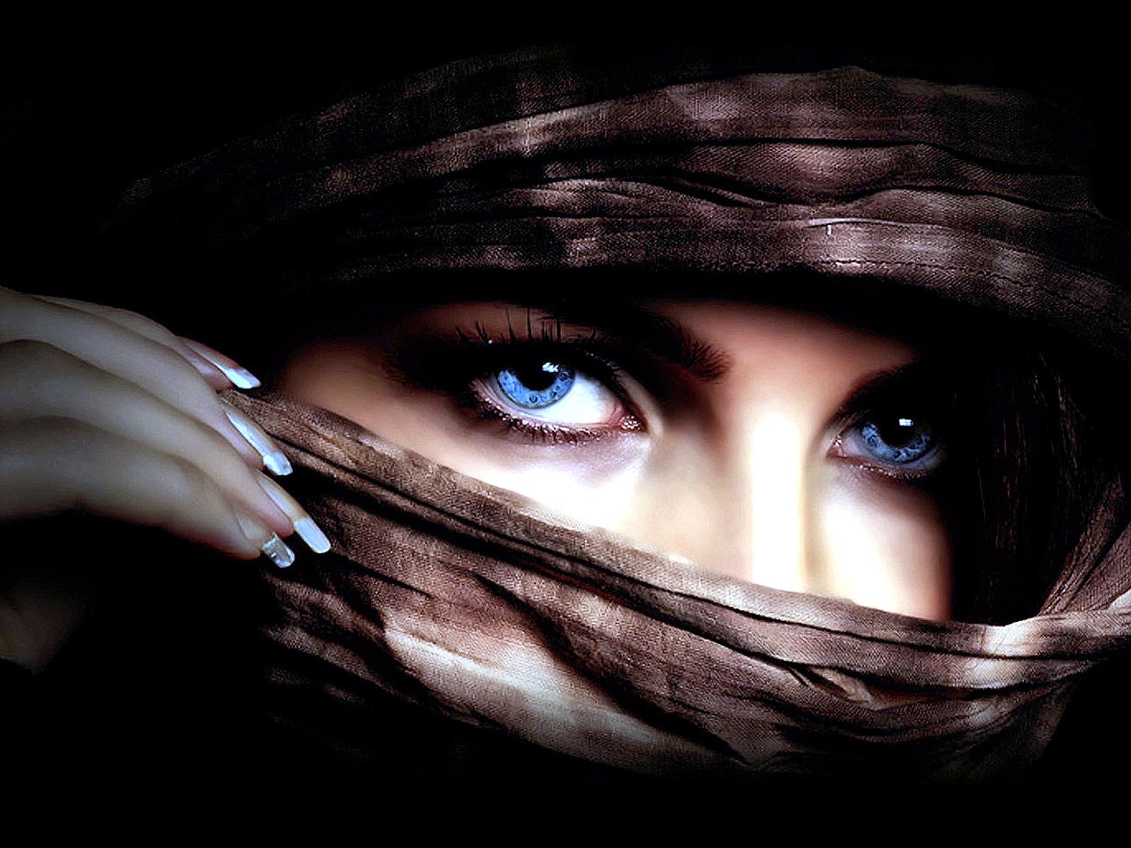 Vrouwen - Oog  Blue Eyes Wallpaper