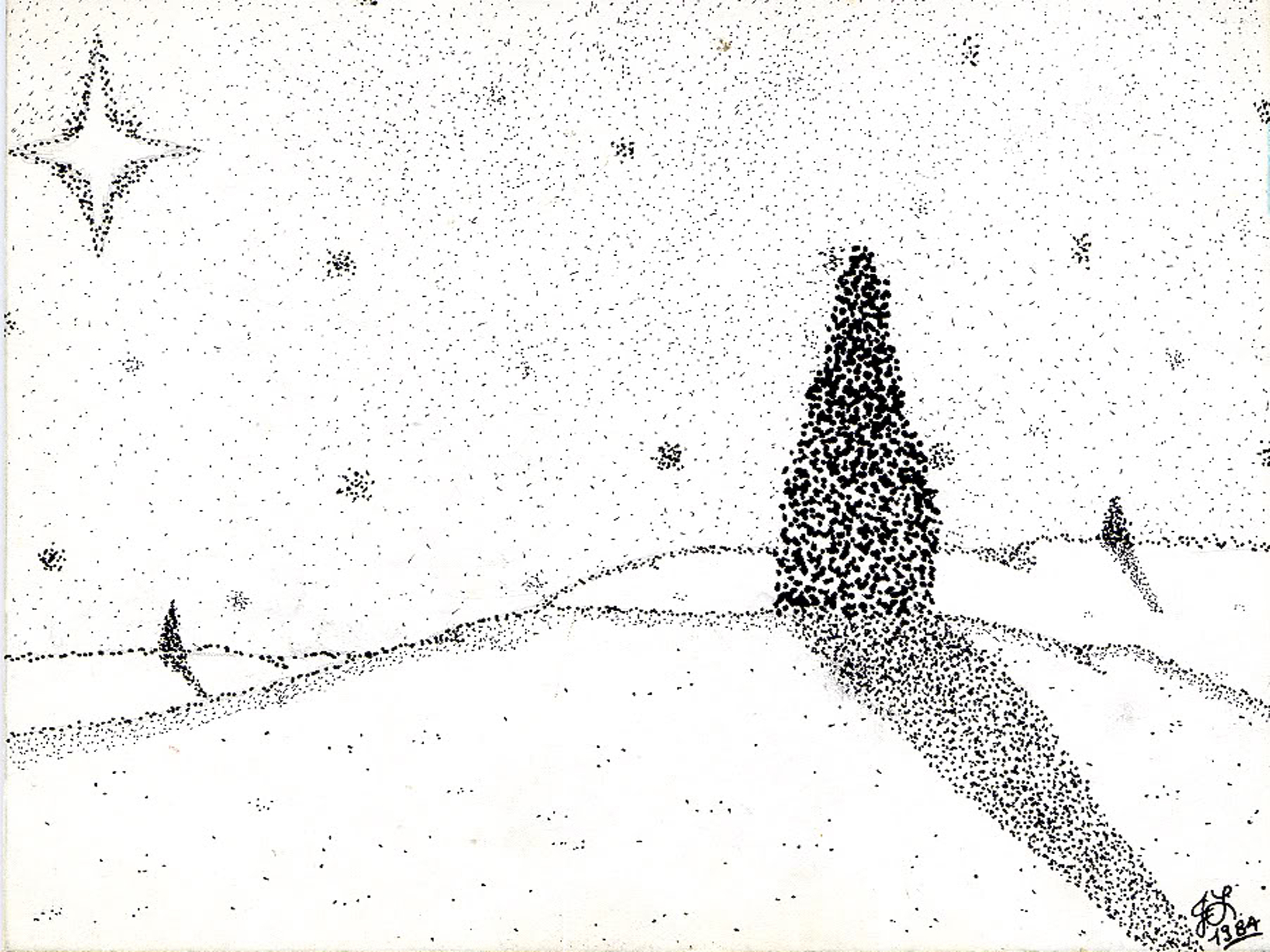 Artistic - Other  - Stipple - Art - Winter Wallpaper