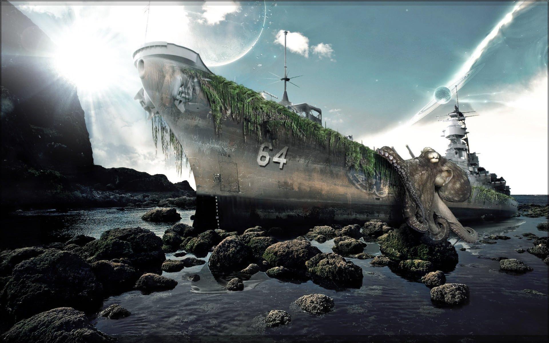 Фэнтези - Корабль  Обои