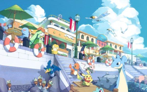 Video Game Pokémon Pikachu Charmander Lapras Mew Totodile Psyduck Alolan Raichu Wooper Wingull Slowpoke Lilligant Inteleon Cramorant Binacle Mienshao Typhlosion Quagsire HD Wallpaper   Background Image