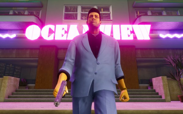 Video Game Grand Theft Auto: Vice City Grand Theft Auto Grand Theft Auto: The Trilogy - The Definitive Edition Tommy Vercetti HD Wallpaper   Background Image