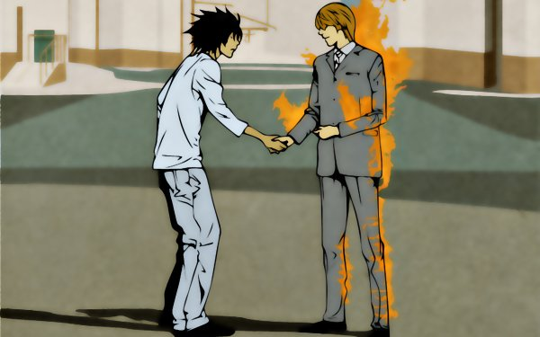 Anime Death Note Wish You Were Here Pink Floyd Light Yagami L HD Wallpaper | Background Image