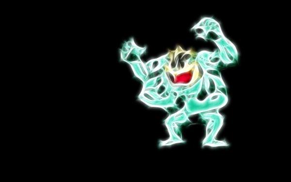 Anime Pokémon Machamp Fighting Pokémon HD Wallpaper | Background Image