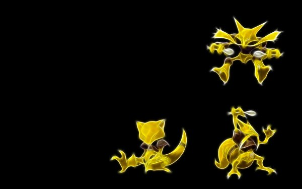 Anime Pokémon Abra Kadabra Alakazam Psychic Pokémon Fondo de pantalla HD | Fondo de Escritorio
