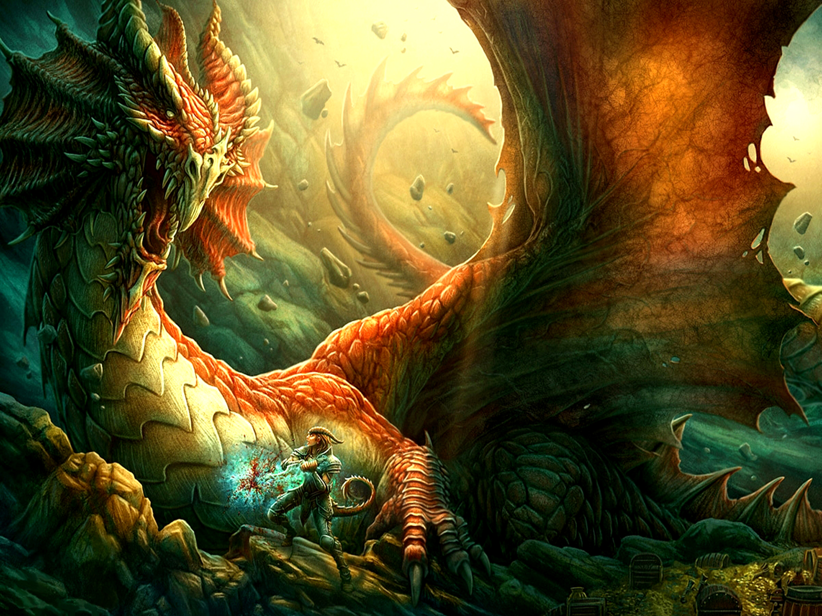 Fantasy - Drachen  Wallpaper