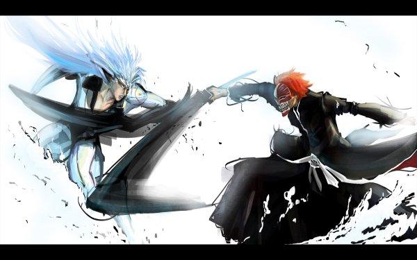 Anime Bleach Ichigo Kurosaki Grimmjow Jaegerjaquez HD Wallpaper   Background Image