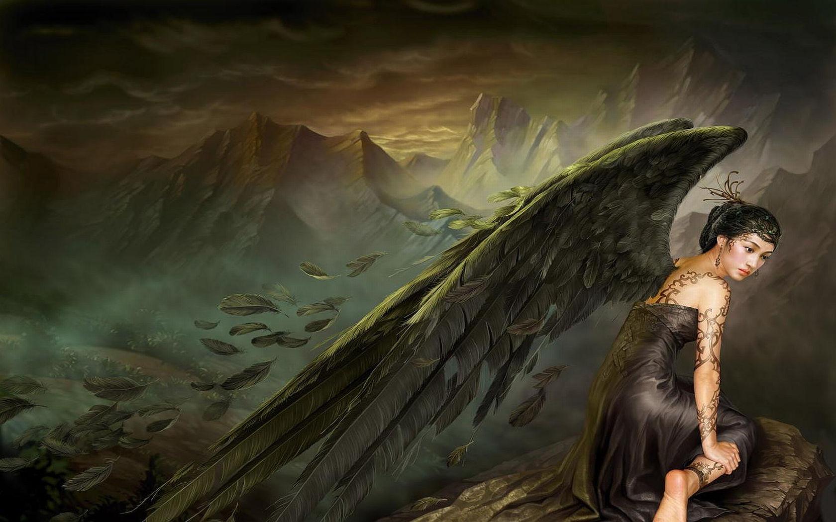 Фэнтези - Ангел  Woman Обои