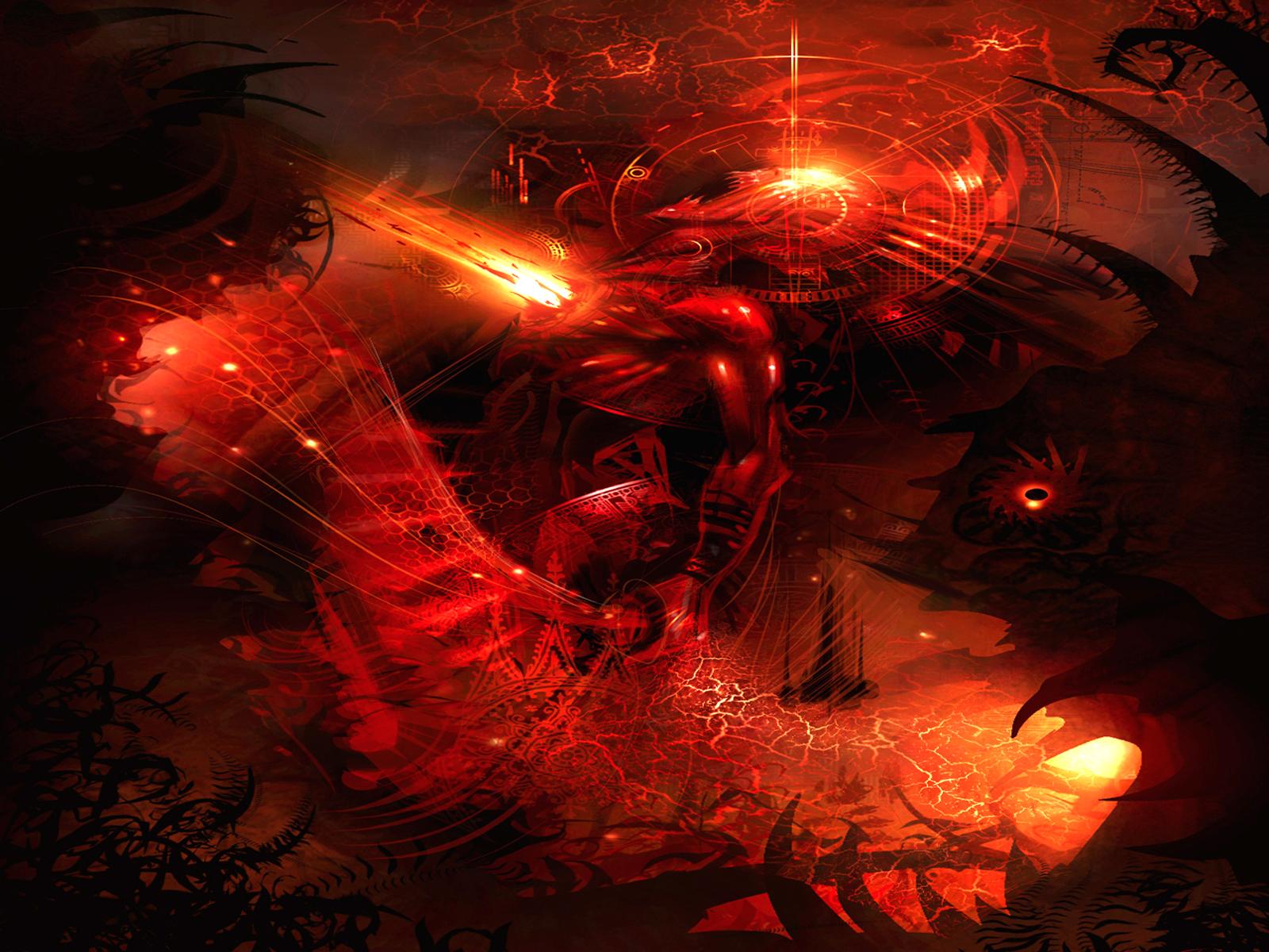 Science Fiction - Abstrakt  Cosmic Battle Warped Reality Bakgrund