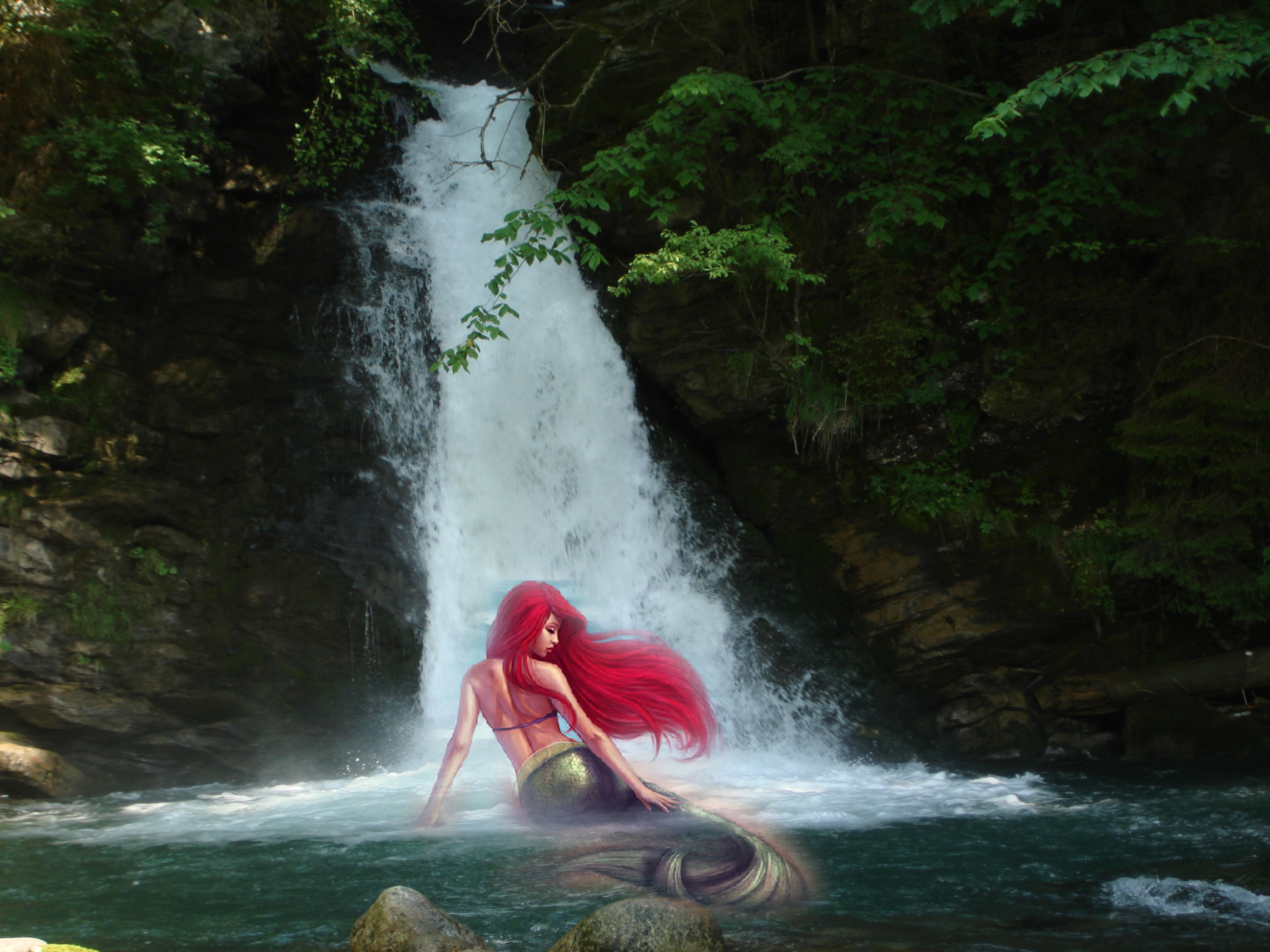Fantasy - Mermaid  - Red Haired Mermaid Wallpaper