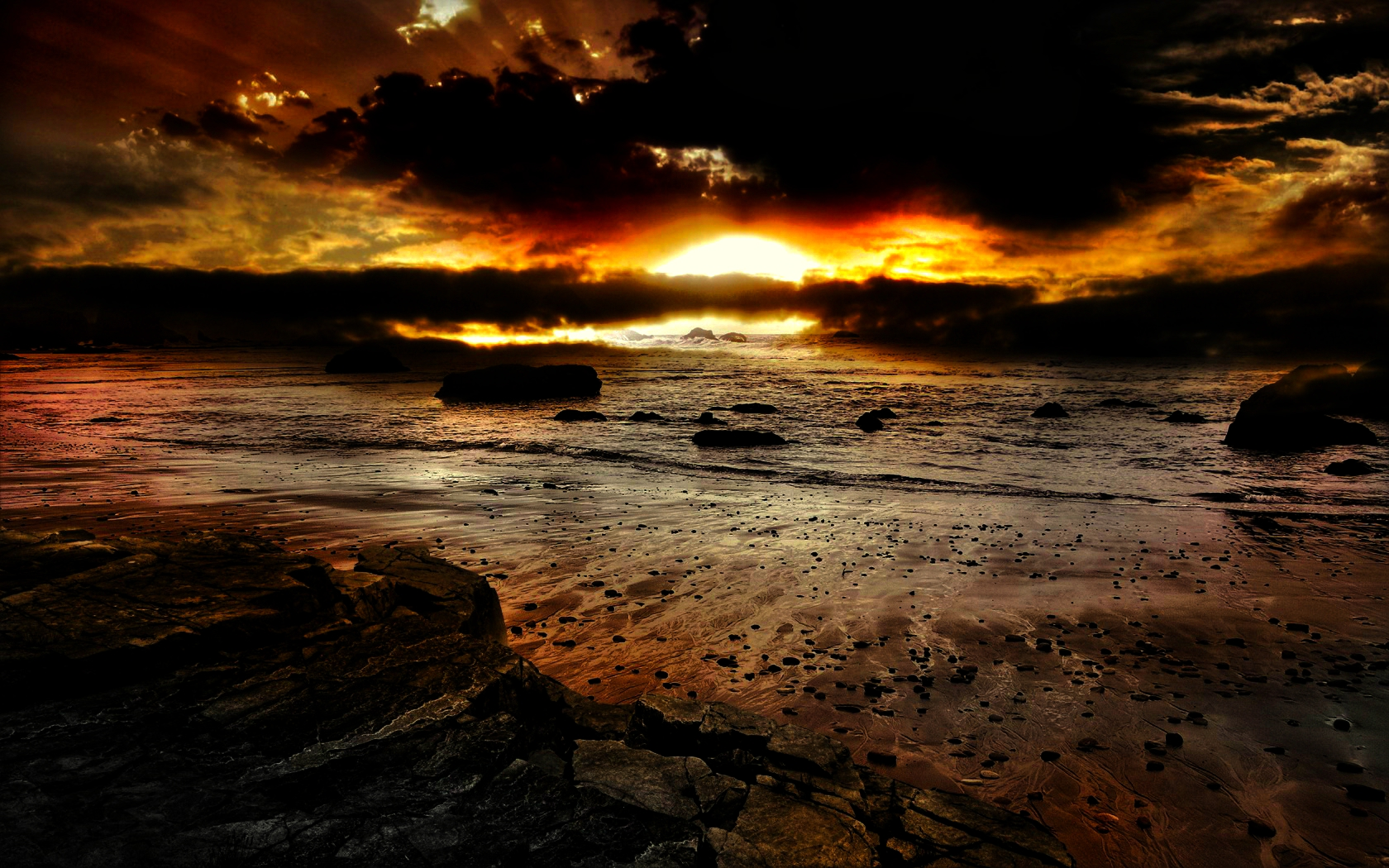 Earth - Sunset Wallpaper