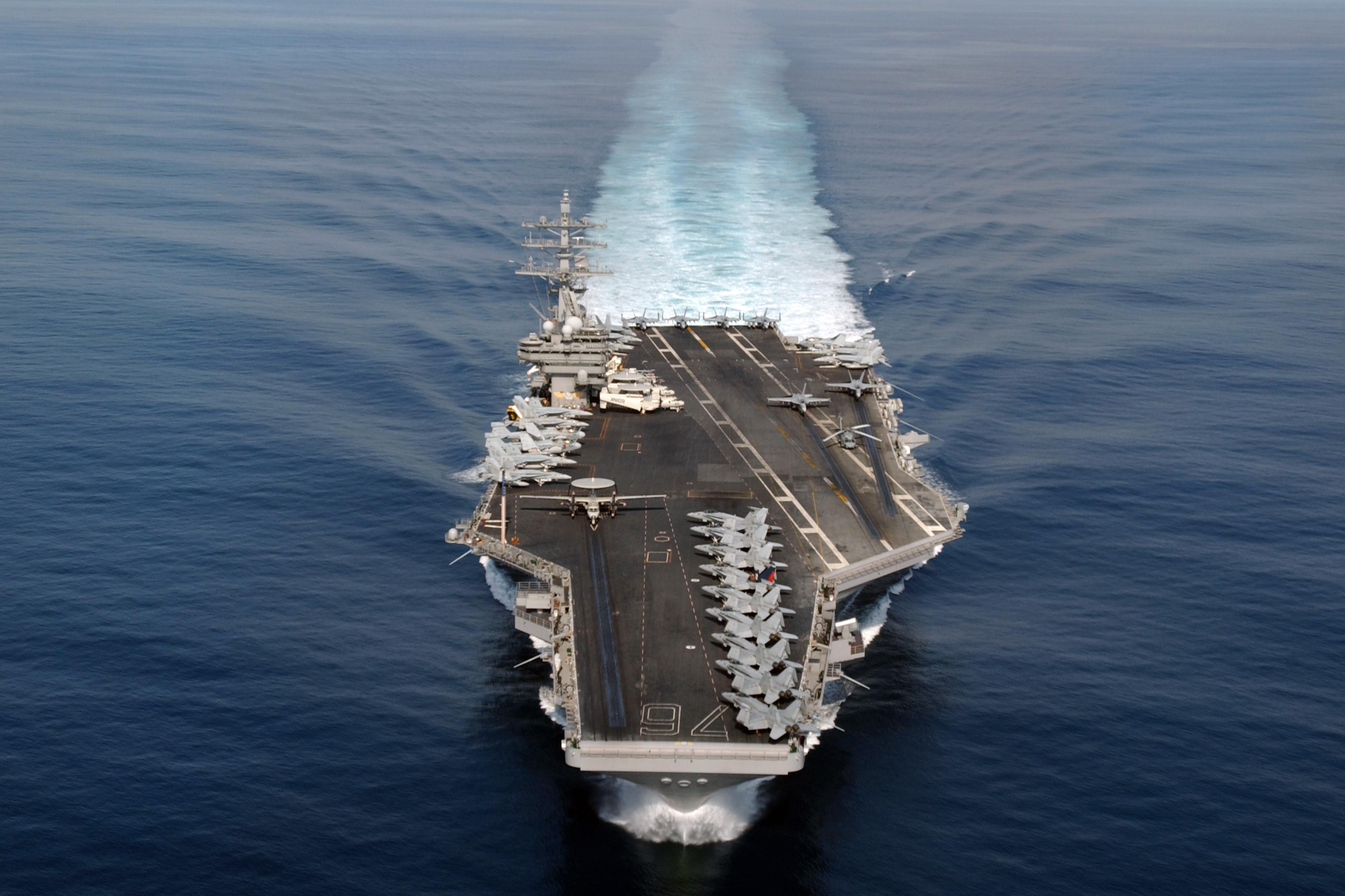 Military - USS Ronald Reagan (CVN-76)  Aircraft Carrier Warship Wallpaper