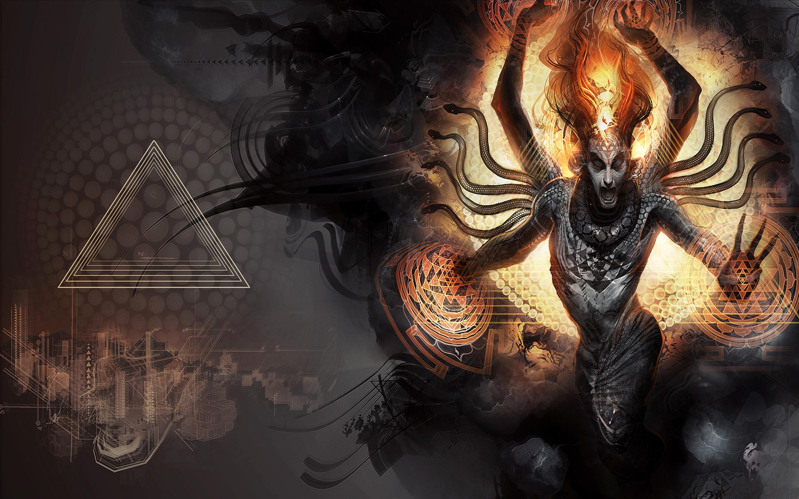 CGI - Sci-fi  Mörk Gothic Bakgrund