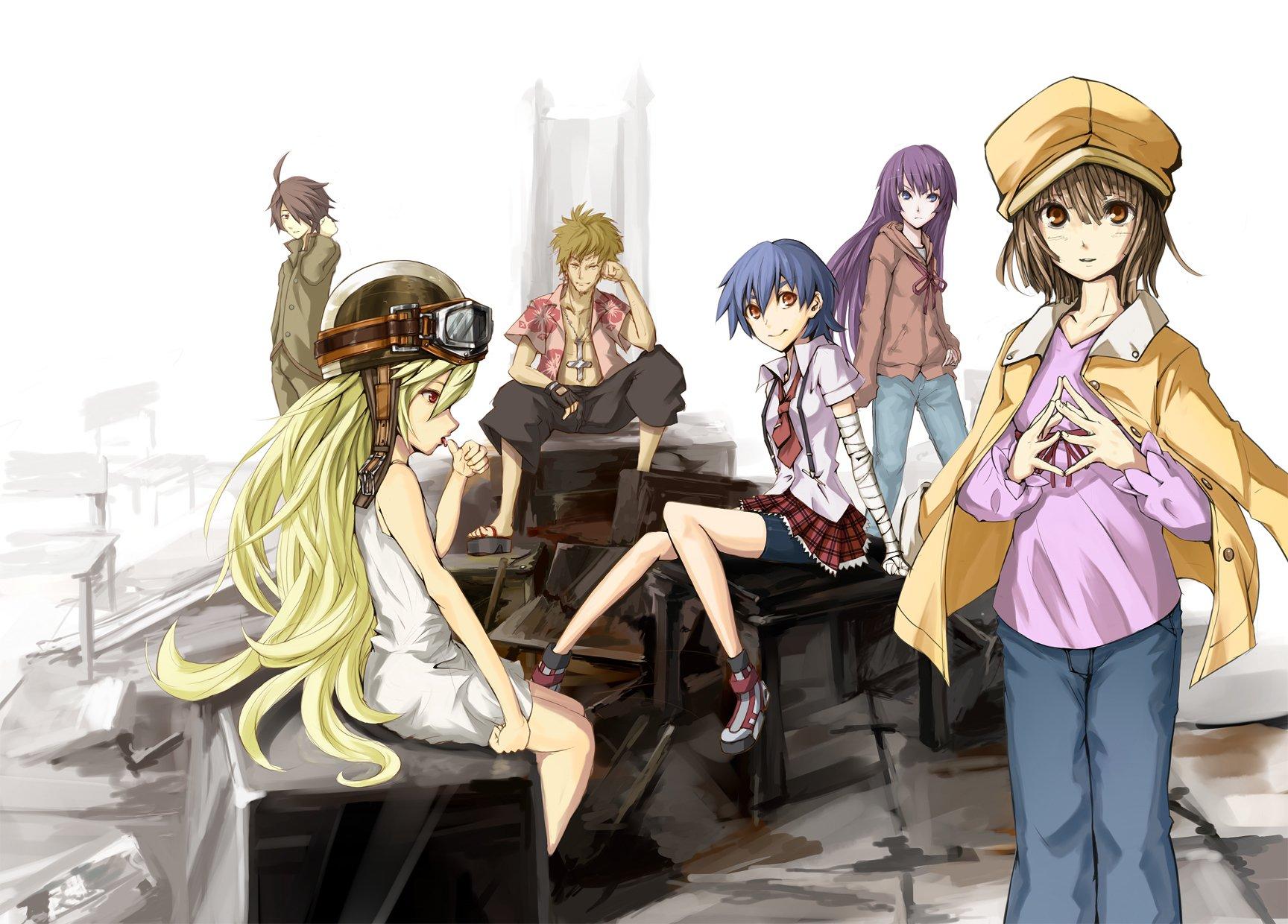 Anime - Monogatari (Series)  Koyomi Araragi Shinobu Oshino Meme Oshino Suruga Kanbaru Hitagi Senjōgahara Nadeko Sengoku Wallpaper