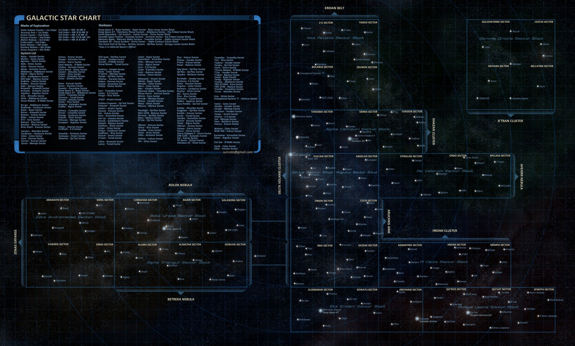 Sci Fi - Star Trek  Map Schematic Chart Wallpaper