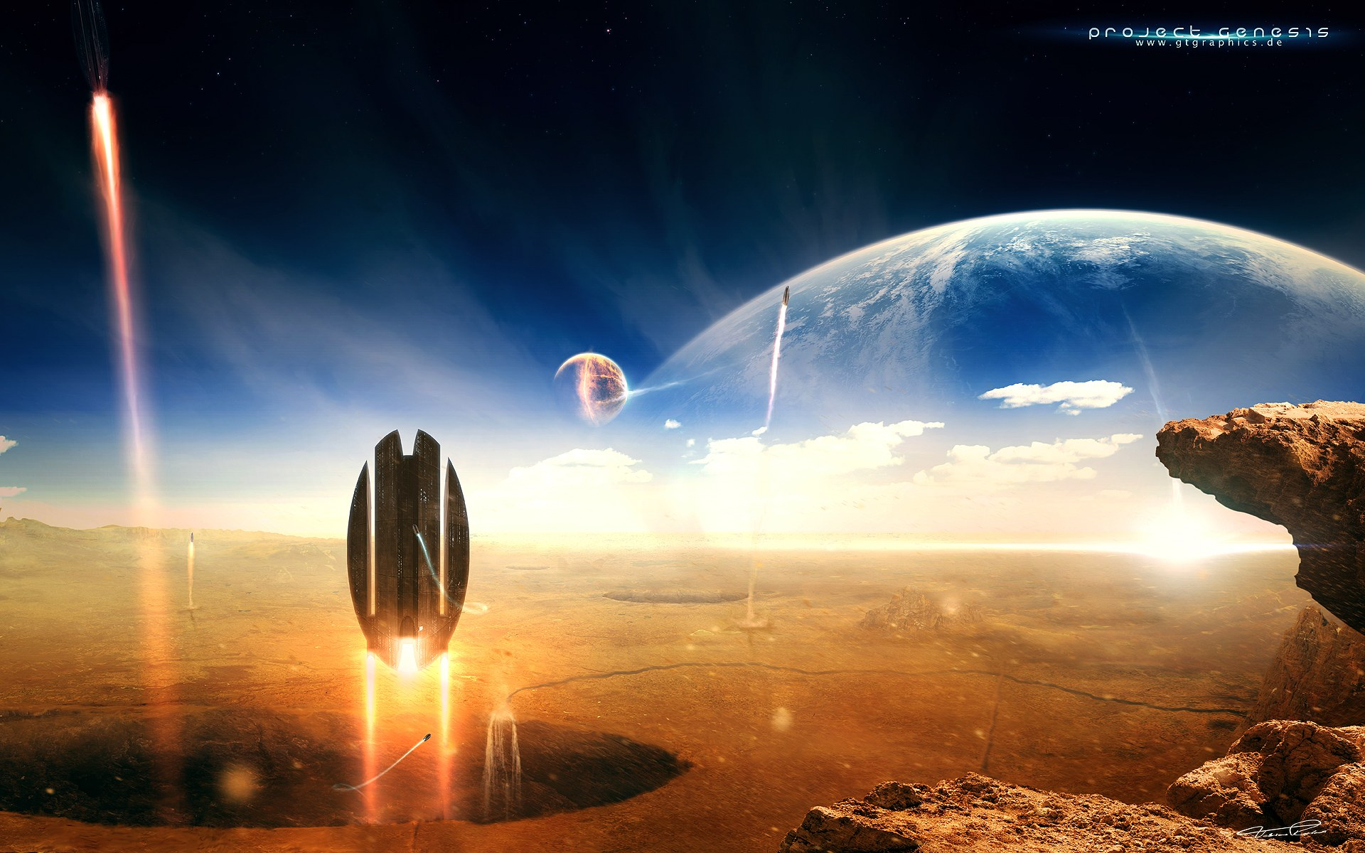 Sci Fi - Planets  Wallpaper