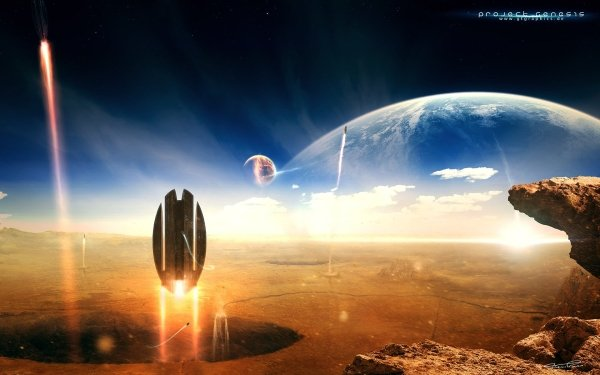 Sci Fi Planets HD Wallpaper | Background Image