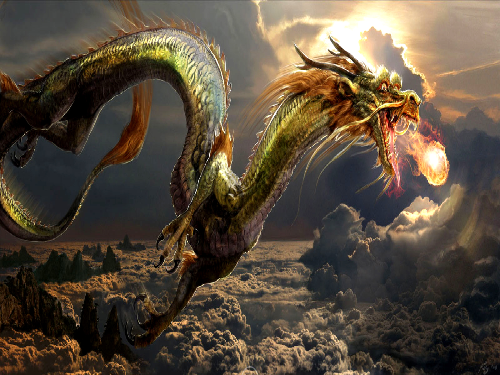 The Dragon Pearl Computer Wallpapers Desktop Backgrounds  1600x1200