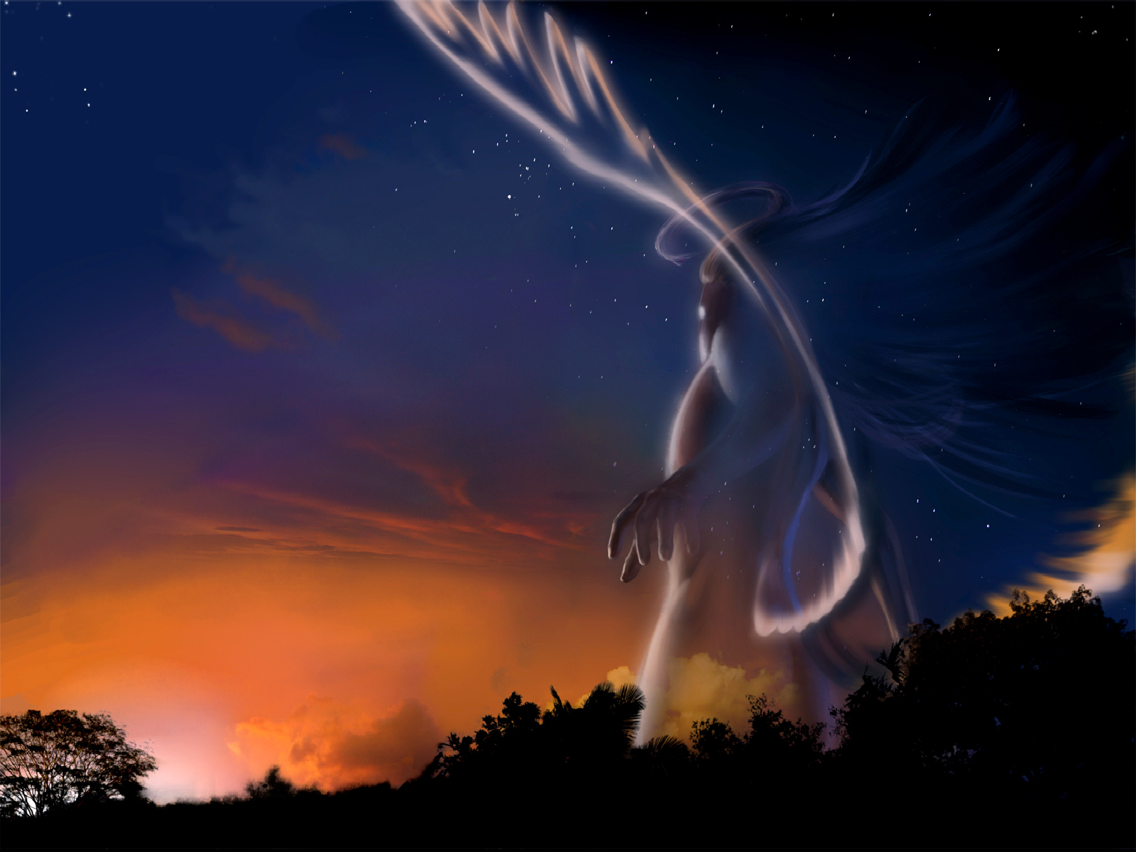 Fantasy - Ängel  Demon Bakgrund