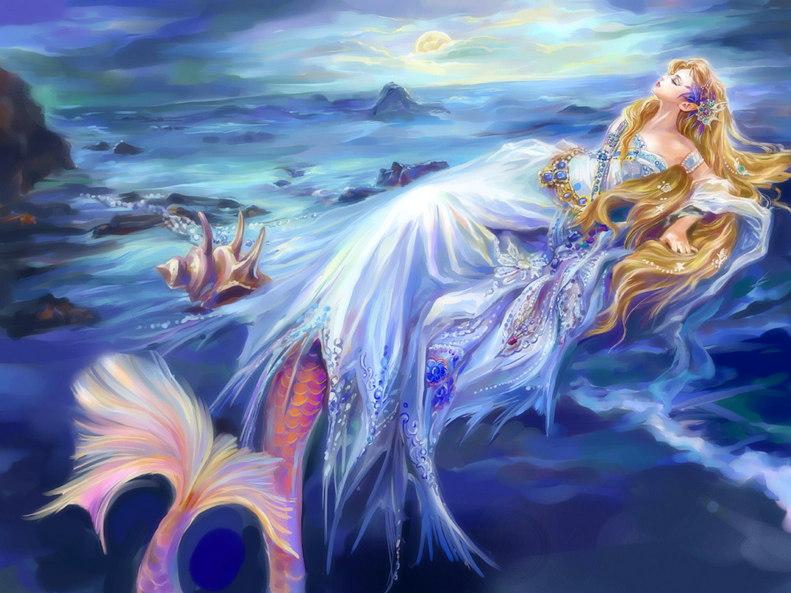 154 mermaid hd wallpapers backgrounds wallpaper abyss - Mermaid wallpaper hd ...