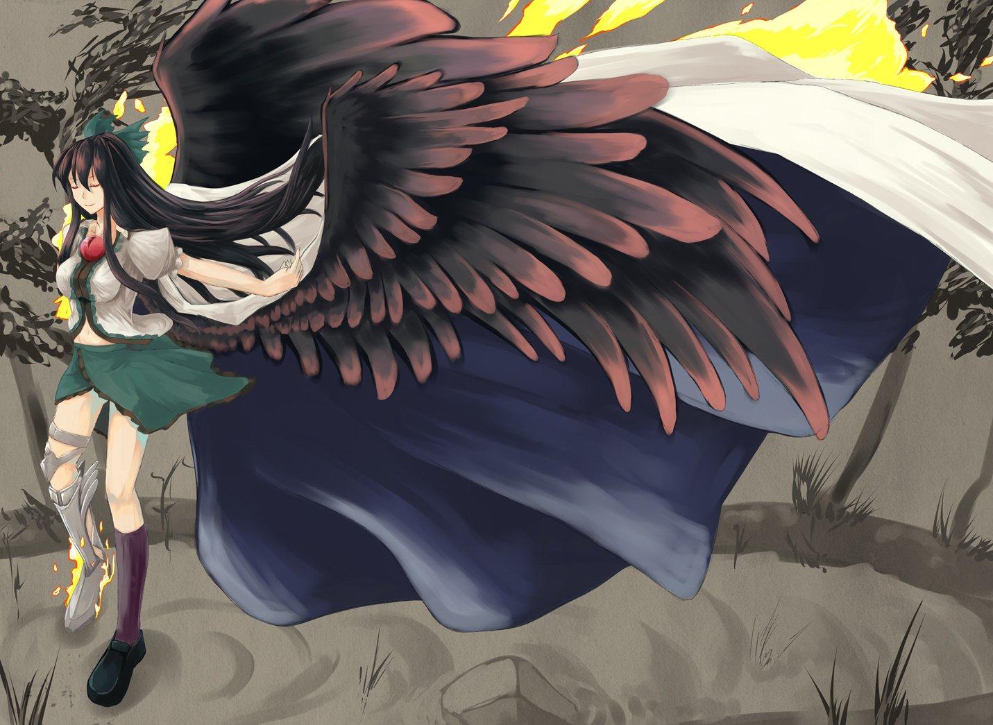 Anime - Touhou  Utsuho Reiuji Wallpaper