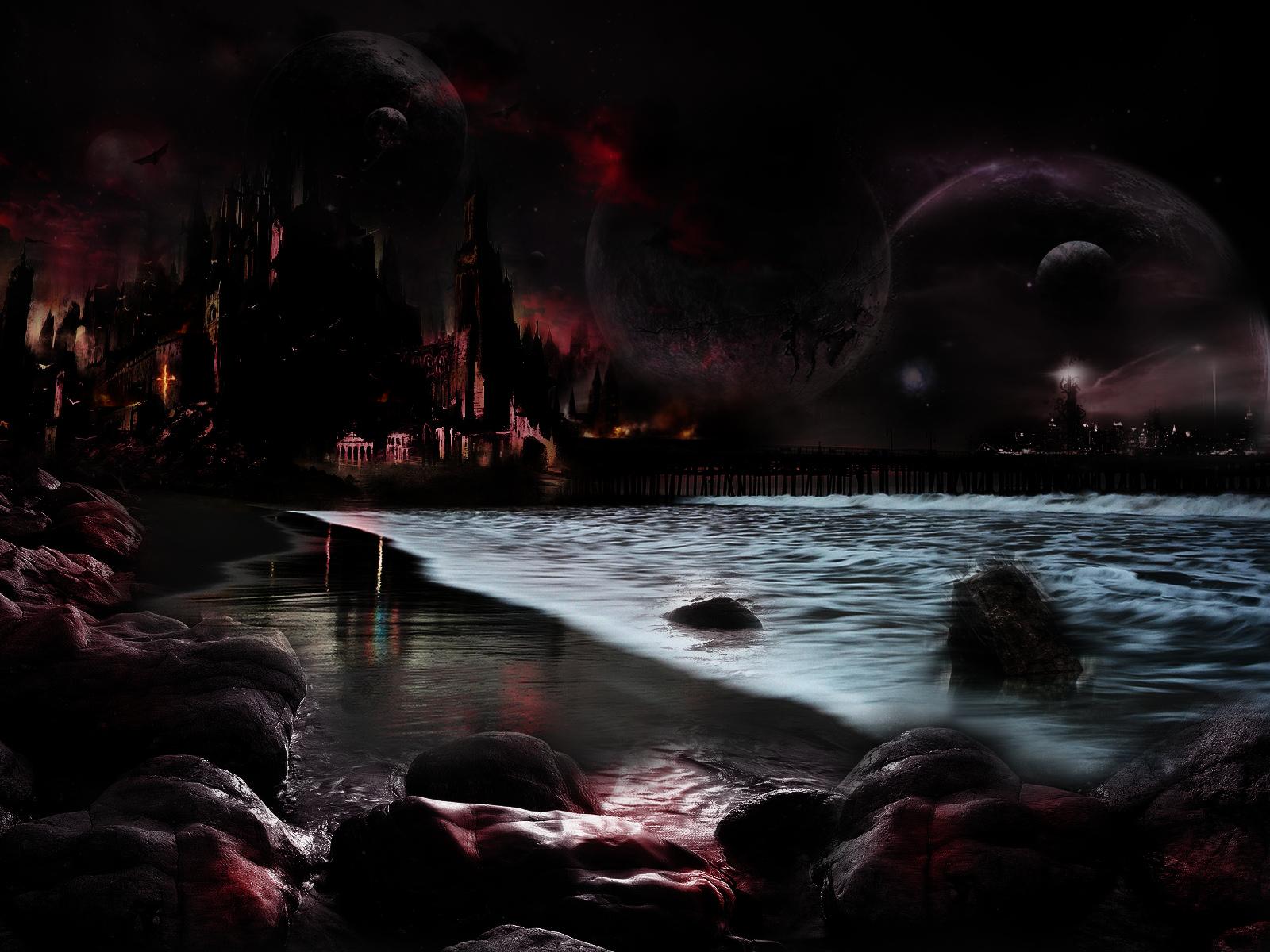 Sombre - Ville  Fond d'écran