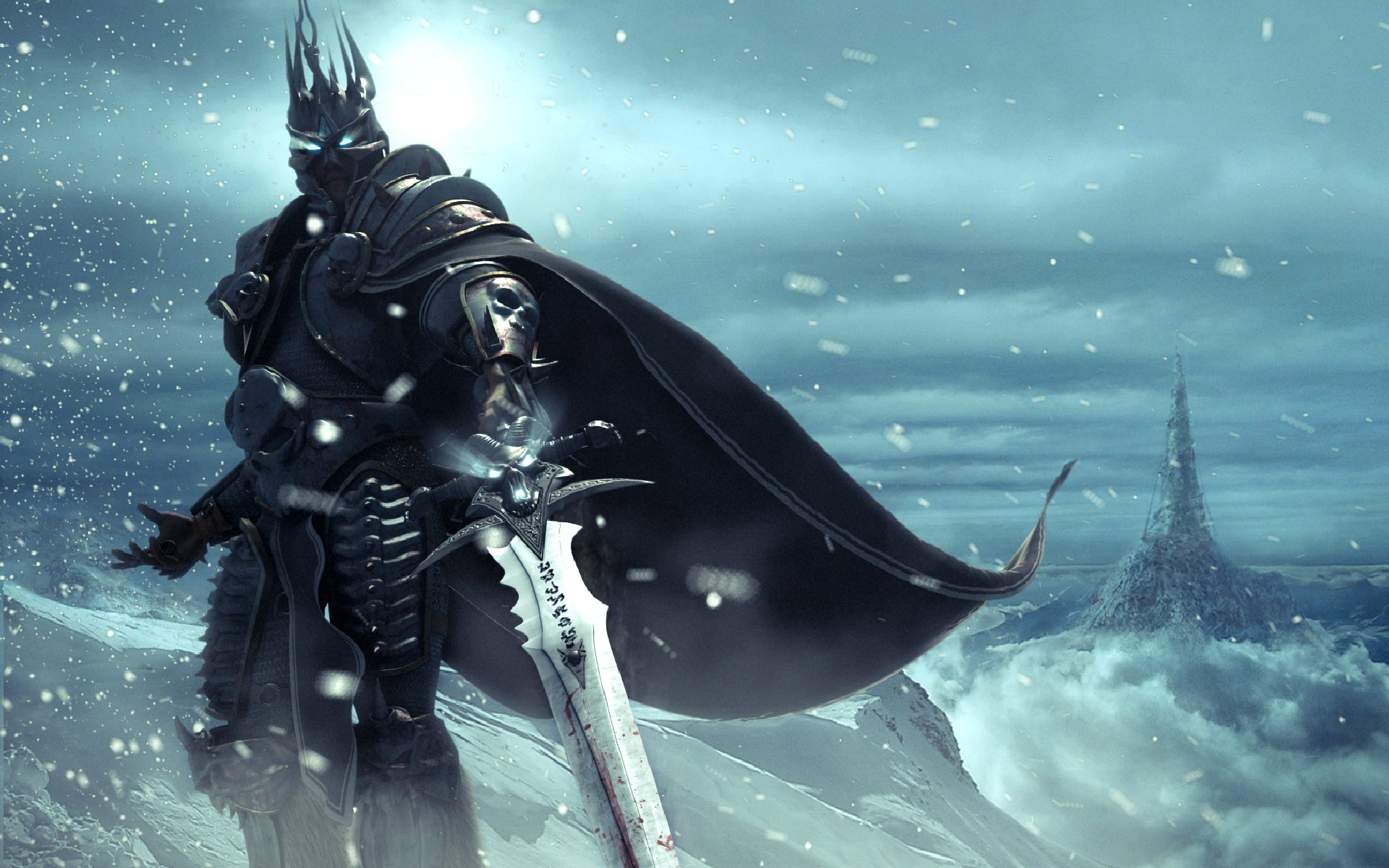 Videojuego - Warcraft  Lich King Arthas Menethil Videojuego World of Warcraft Fondo de Pantalla