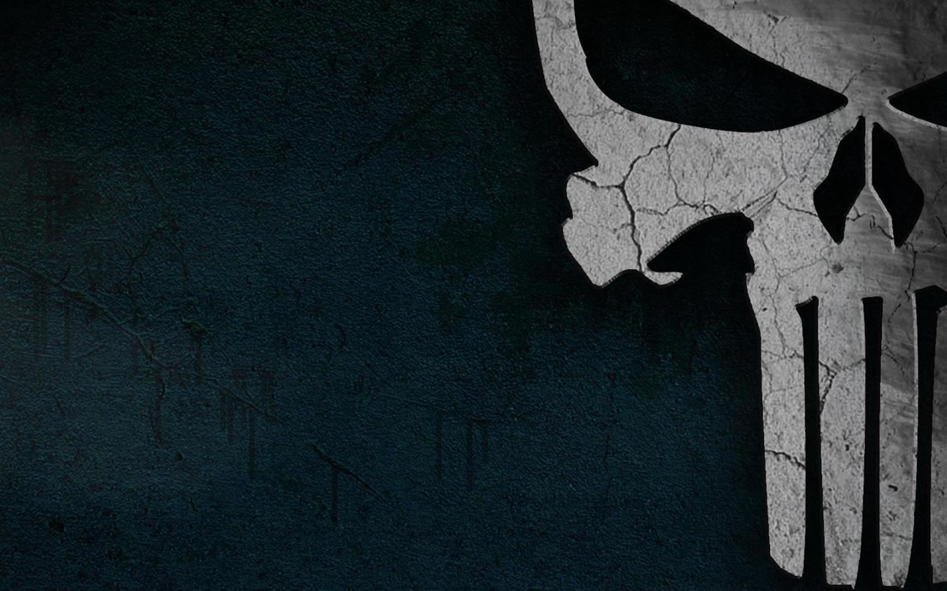 Comics - The Punisher  Black Dark Skull Punisher Wallpaper