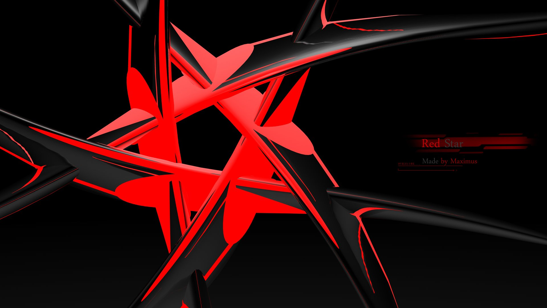 Red Star HD Wallpaper | Background Image | 1920x1080 | ID ...