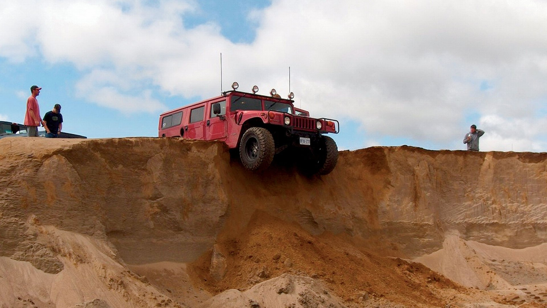 Vehicles - Hummer  Off-Road Situation Red Desert Wallpaper