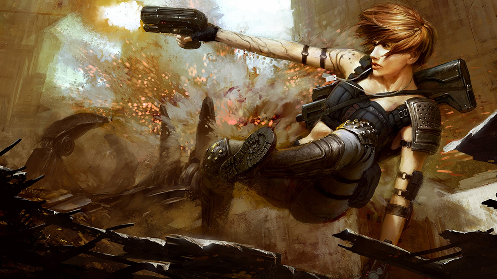 Women Warrior Full Hd Wallpaper And Background Image
