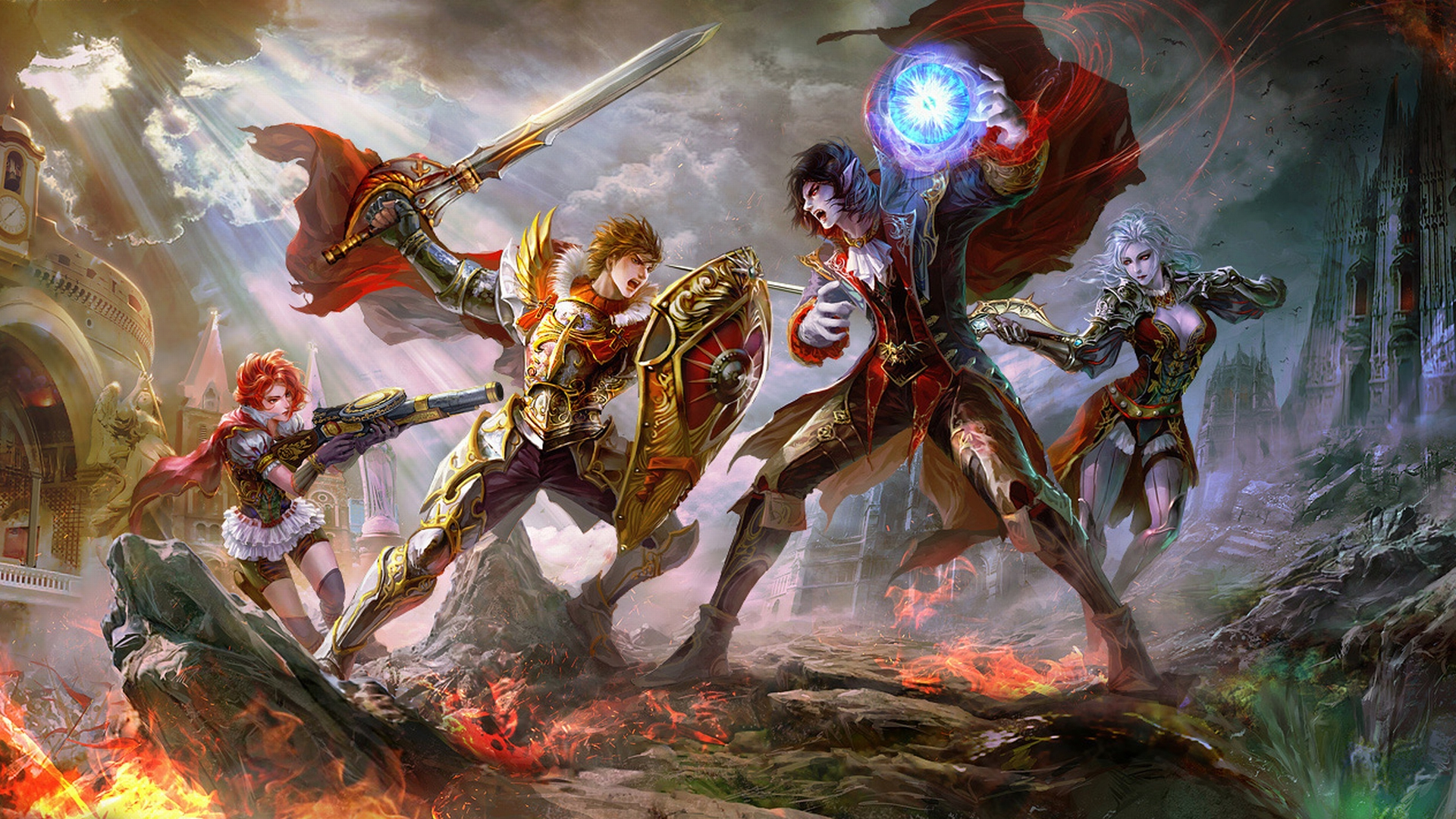 Fantasía - Batalla  Supernatural Espada Weapon Mágico Fondo de Pantalla