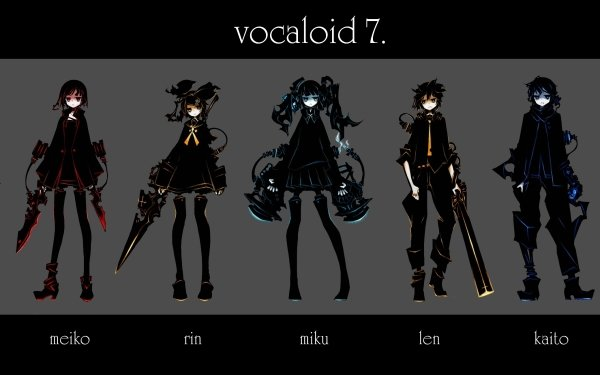 Anime Vocaloid Hatsune Miku Luka Megurine Len Kagamine Rin Kagamine Meiko Kaito Sera GUMI Black Rock Shooter Fondo de pantalla HD | Fondo de Escritorio