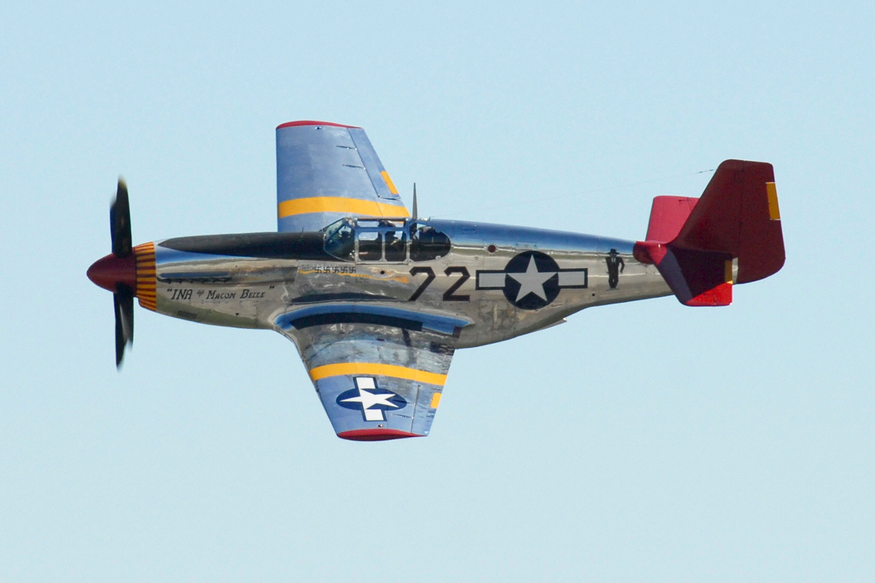 Tuskegee Airman Red Tails P51 Of Lt Col Lee Archer