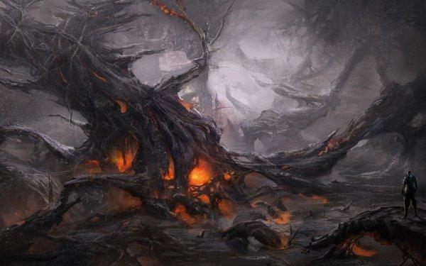 Oscuro Landscape Fondo de pantalla HD | Fondo de Escritorio
