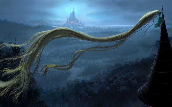 Fantasy Artistic Tangled Rapunzel HD Wallpaper | Background Image