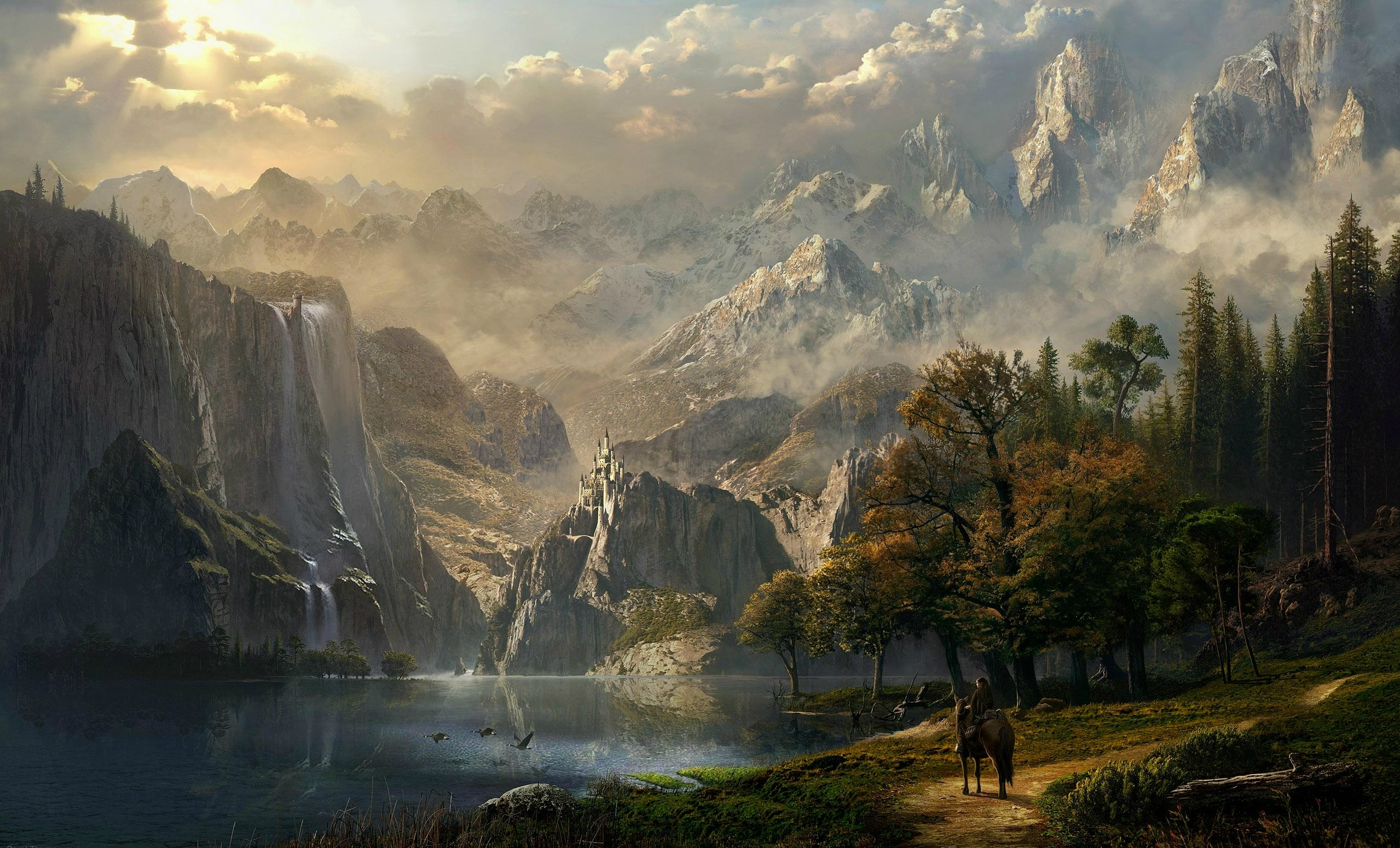 Fantasy Art Scenery - Fantasy Art Scenery Wallpaper Sarel Theron