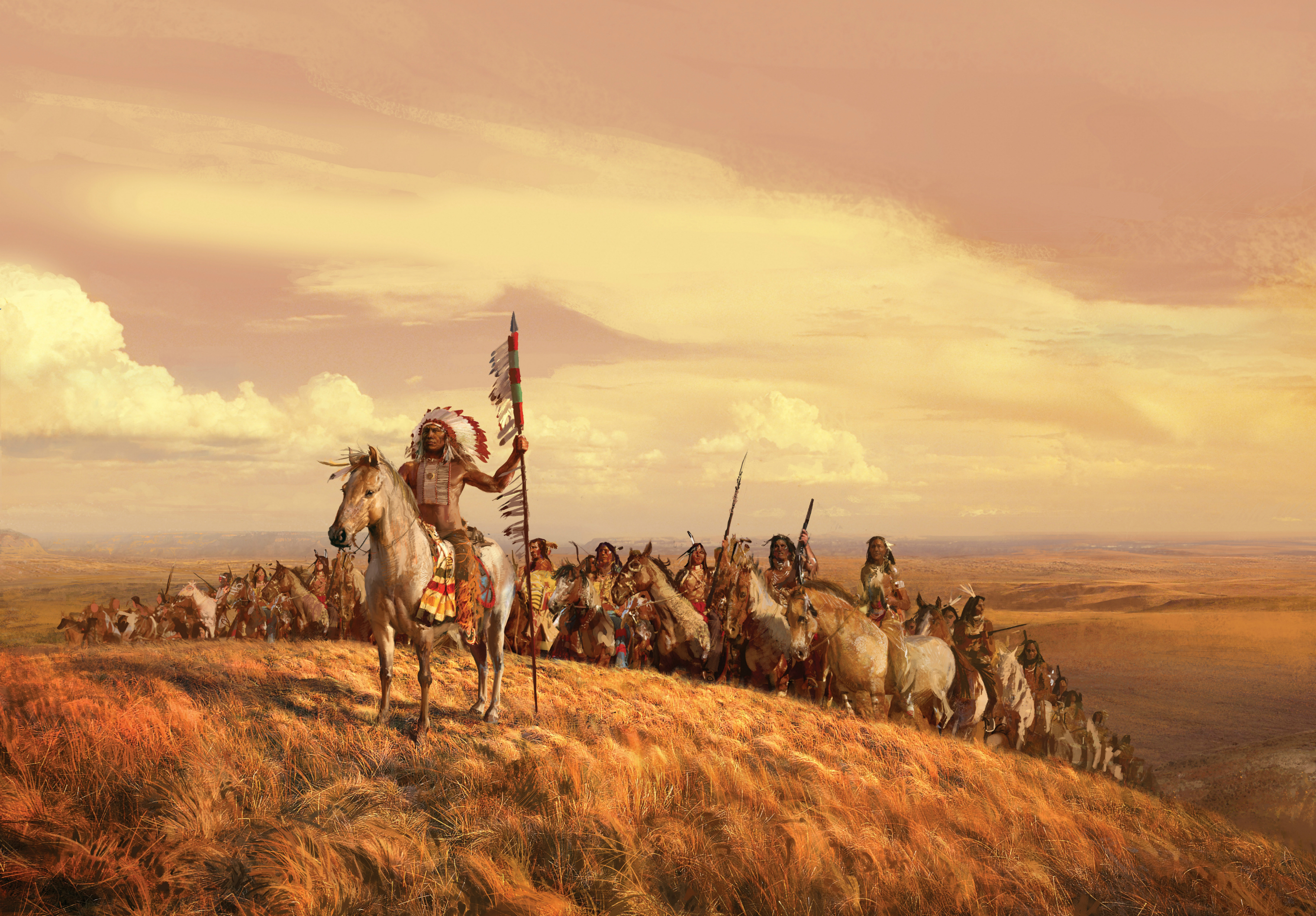 artistic native american age of empires wallpaper