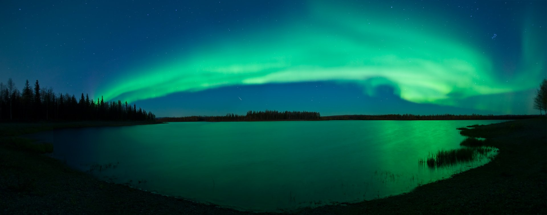 Multi Monitor - Erde/Natur  Aurora Borealis Himmel Night Wallpaper