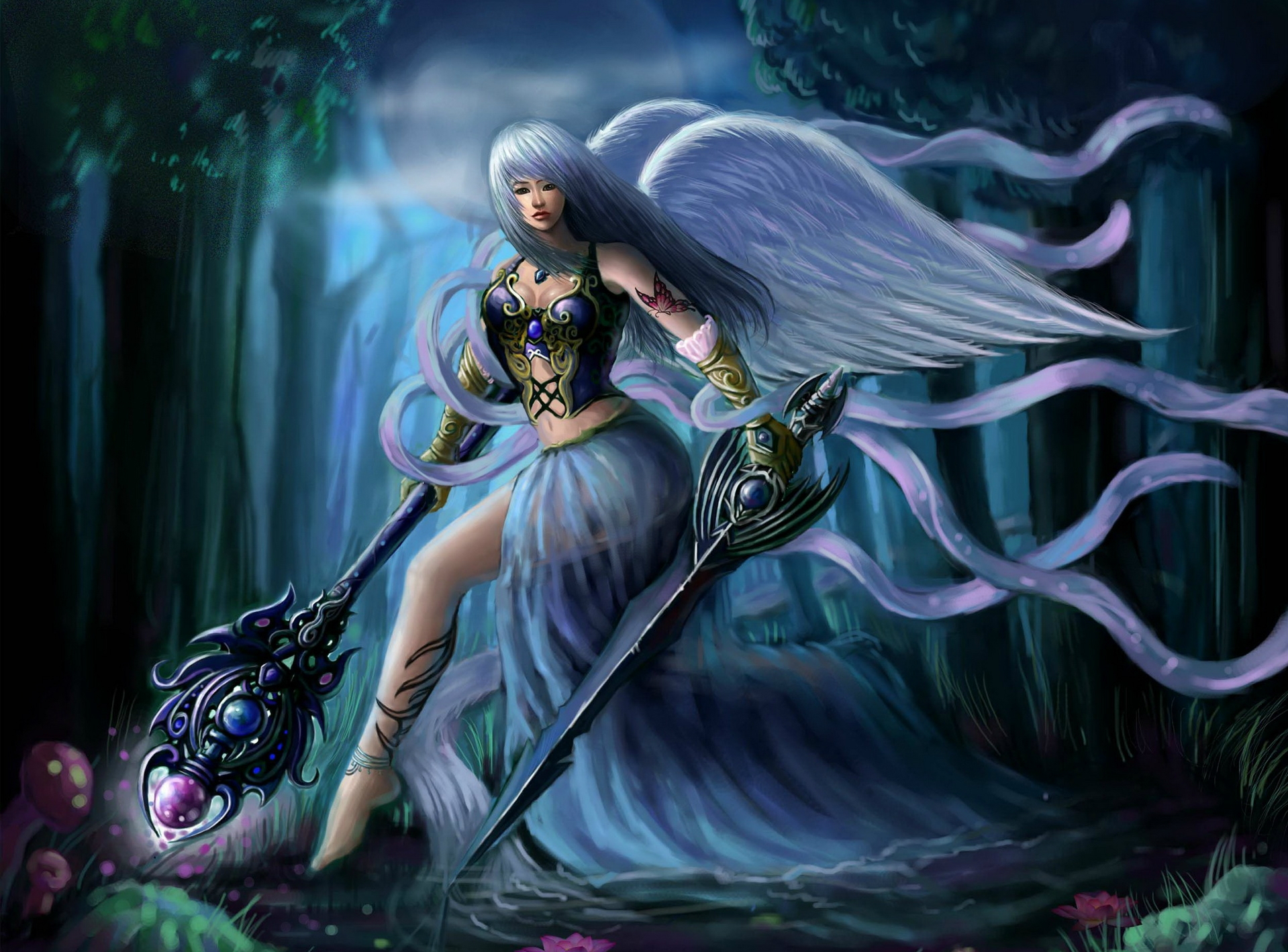 Angel Warrior Wallpaper and Background Image | 1919x1419 ...