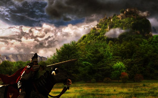 Video Game Knights Of Honor Knight Fantasy Castle HD Wallpaper | Background Image