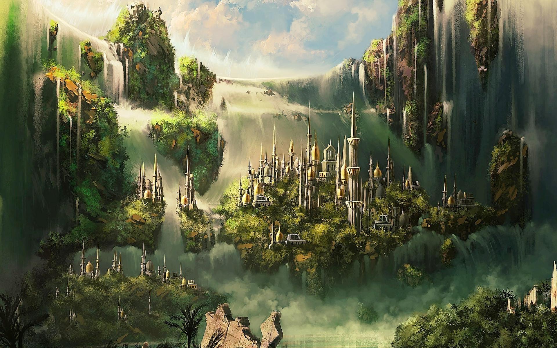 Fantasy - City  Artistic Fantasy Wallpaper
